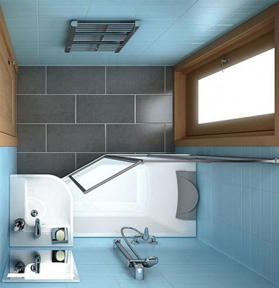 phòng tắm kính nhỏ 3m2