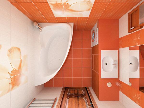 Phòng tắm với diện tích 3m2