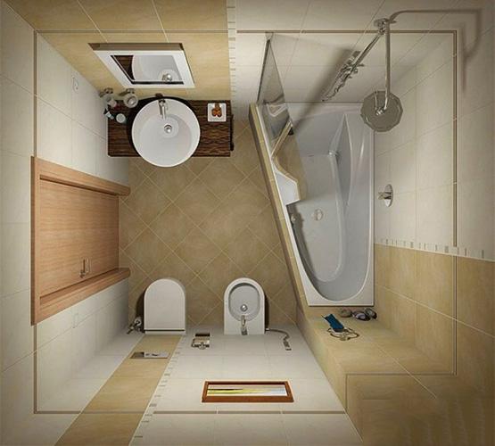 9 mẫu thiết kế phòng tắm nhỏ 3m2
