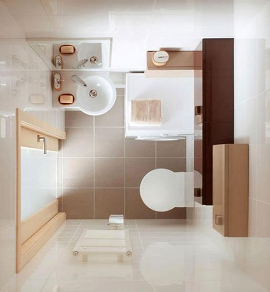 Mẫu 1: Phòng tắm với diện tích nhỏ 3m2