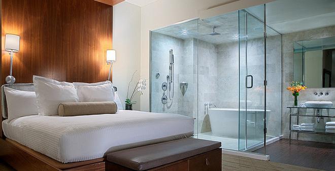 thiết kế phòng tắm trong phòng ngu