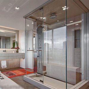 Tìm hiểu về phòng tắm kính 180 độ cho gia đình