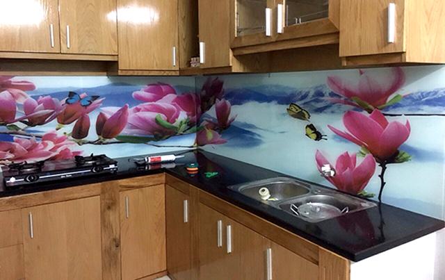 kính ốp bếp 3D tại Hoàn Kiếm