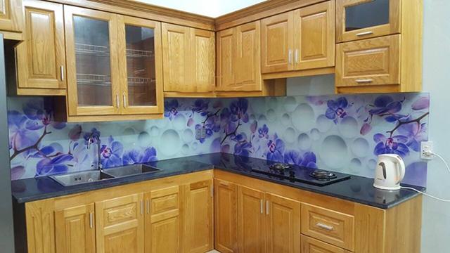 kính ốp bếp 3D tại Gia Lâm